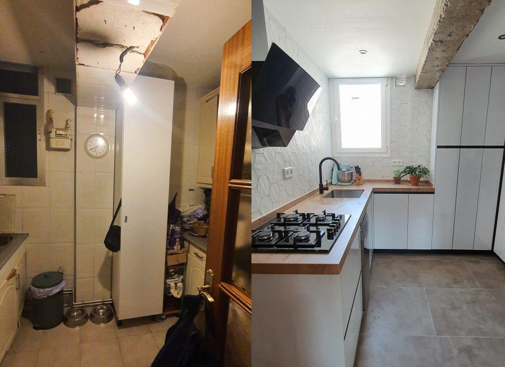 antes y despues cocina